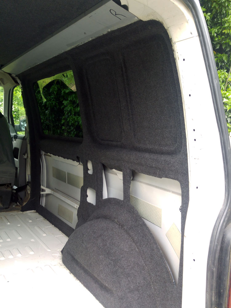 VW t5 insulation and wall covering