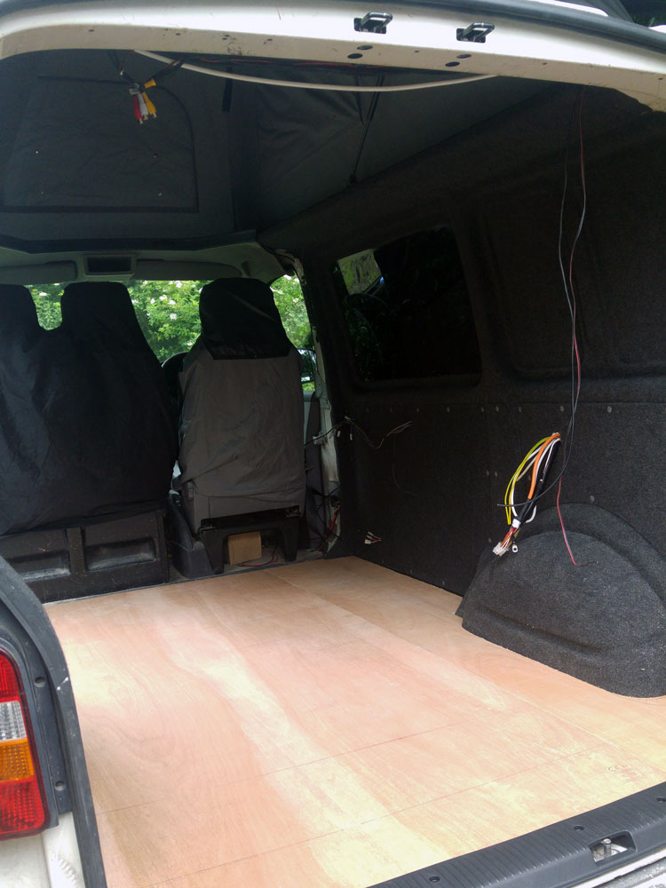 VW t5 flooring fitted