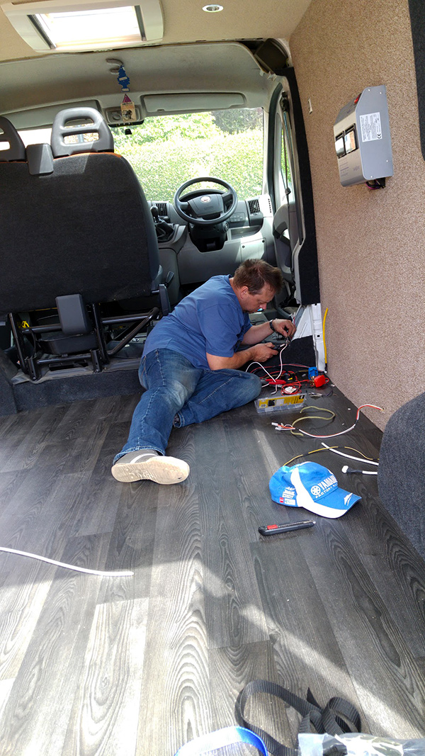 Fiat Ducatto conversion fitting leisure batteries